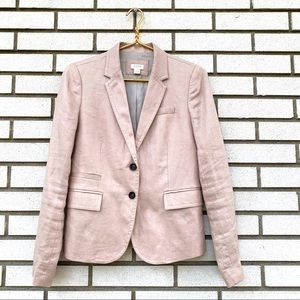 J. Crew Factory Blush Linen Schoolboy Blazer